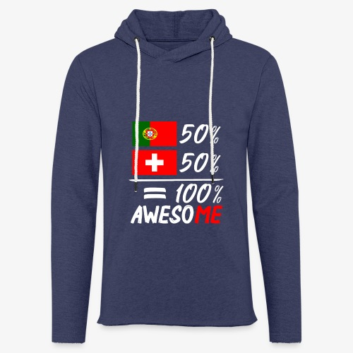 50% Portugal 50% Schweiz - Leichtes Kapuzensweatshirt Unisex