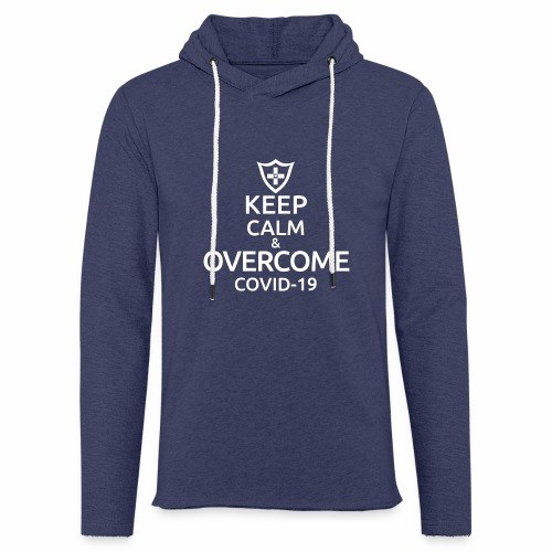 Keep calm and overcome - Lekka bluza z kapturem
