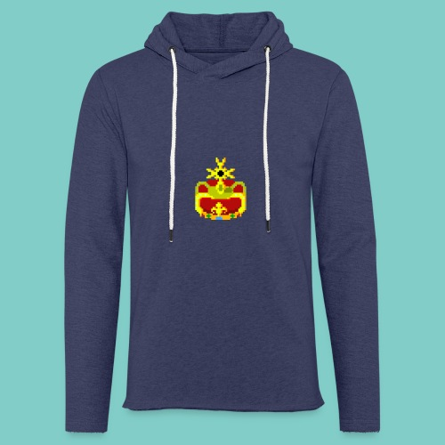 Couronne Pixel art - Sweat-shirt à capuche léger unisexe