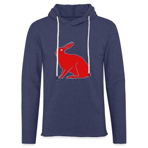 Roter Hase - Leichtes Kapuzensweatshirt Unisex