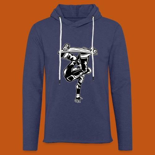 Skater / Skateboarder 03_schwarz weiß - Leichtes Kapuzensweatshirt Unisex