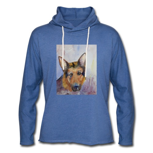 german shepherd wc - Let sweatshirt med hætte, unisex