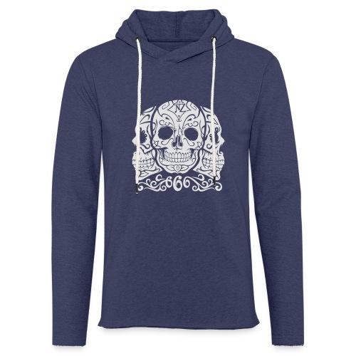 Skull Dia de los muertos - Sweat-shirt à capuche léger unisexe