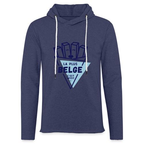 La+Belge - Sweat-shirt à capuche léger unisexe