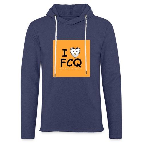 I Love FCQ button orange - Leichtes Kapuzensweatshirt Unisex