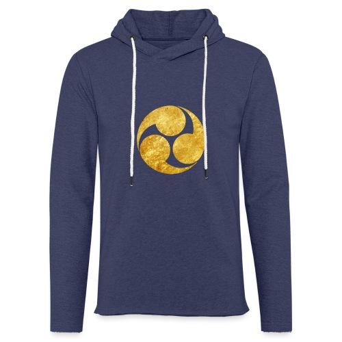 Kobayakawa Mon Japanese clan gold on black - Light Unisex Sweatshirt Hoodie