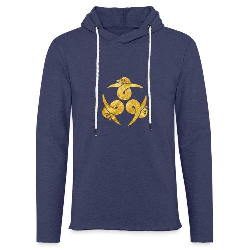 Three Geese Japanese Kamon in gold - Light Unisex Sweatshirt Hoodie