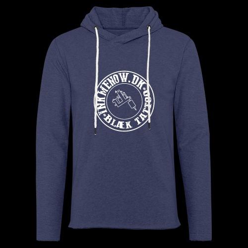 logo hvid png - Let sweatshirt med hætte, unisex