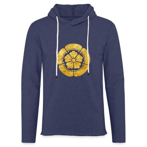 Oda Mon Japanese samurai clan faux gold on black - Light Unisex Sweatshirt Hoodie