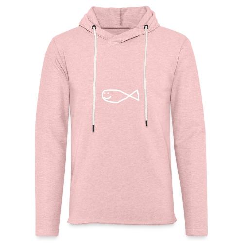 Klassisk Strandfisk Hoodie - Lett unisex hette-sweatshirt
