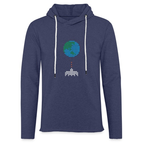 Earth Invaders - Leichtes Kapuzensweatshirt Unisex