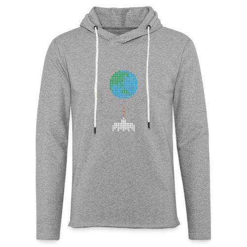 Earth Invaders - Leichtes Kapuzensweatshirt Unisex