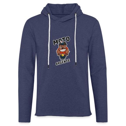 moto argente - Sweat-shirt à capuche léger unisexe
