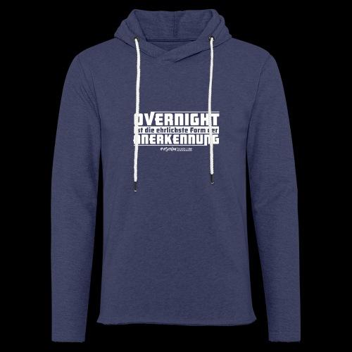 Overnight - Leichtes Kapuzensweatshirt Unisex