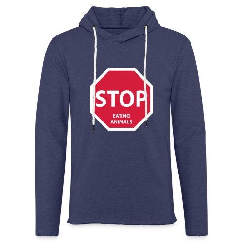 Stop-Eating-Animals - Leichtes Kapuzensweatshirt Unisex