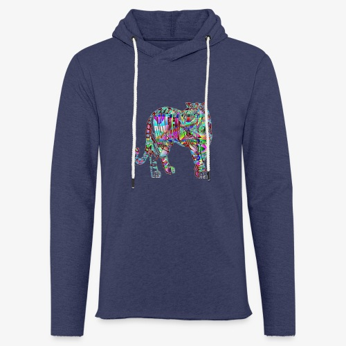 Tigre - Sweat-shirt à capuche léger unisexe