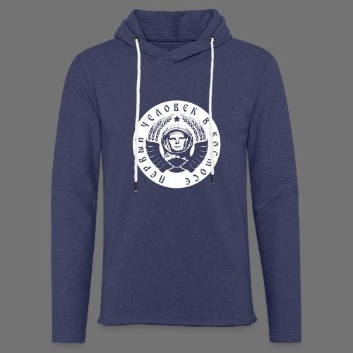 Cosmonaut 1c white - Light Unisex Sweatshirt Hoodie