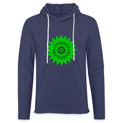 Grüne Sonne - Leichtes Kapuzensweatshirt Unisex
