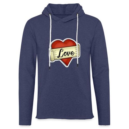 Love cœur tatouage - Sweat-shirt à capuche léger unisexe