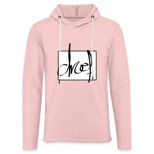 Droef.Gent logo zwart - Lichte hoodie unisex