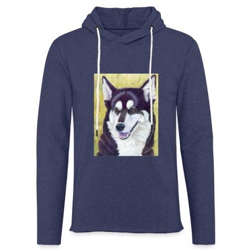 Siberian husky - Let sweatshirt med hætte, unisex