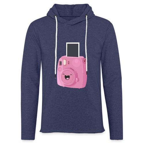 Appareil photo instantané rose - Sweat-shirt à capuche léger unisexe