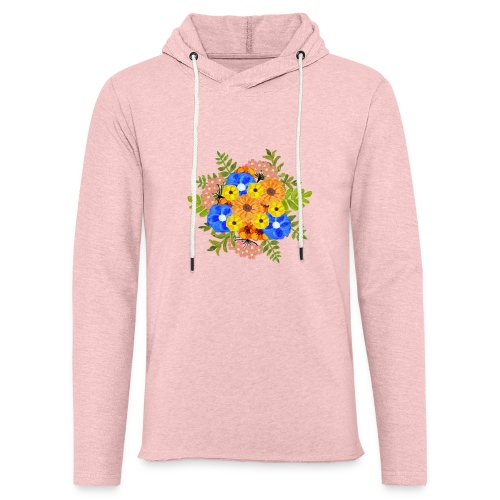 Blue Flower Arragement - Light Unisex Sweatshirt Hoodie