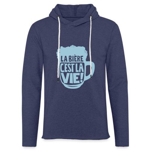 bière, la bière c'est la vie - Sweat-shirt à capuche léger unisexe