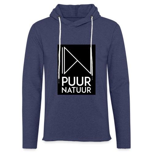 Logo puur natuur negatief - Lichte hoodie unisex