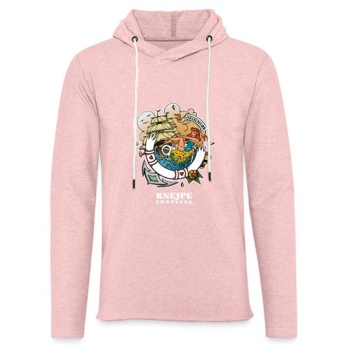 Knejpe Festival - stor tattoo med hvid tekst - Let sweatshirt med hætte, unisex