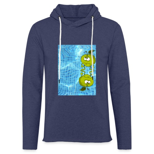 angry appel - Lichte hoodie unisex