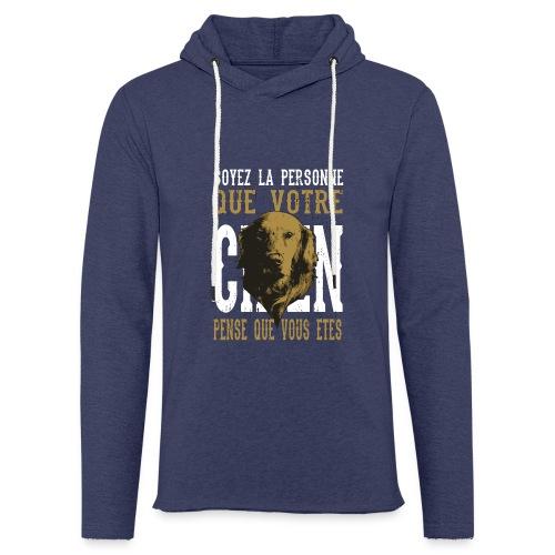 Un amour de chien - Sweat-shirt à capuche léger unisexe