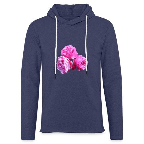 Rose rosa rot Sommer - Leichtes Kapuzensweatshirt Unisex