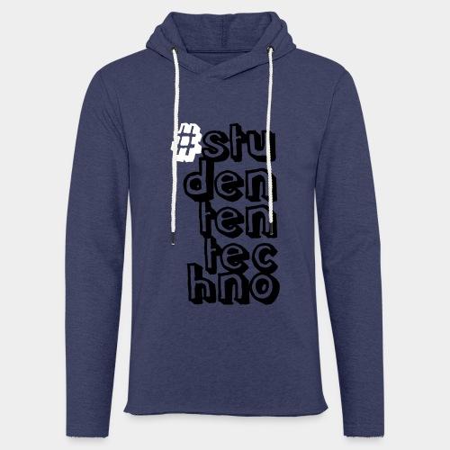 #studententechno (groß) - Leichtes Kapuzensweatshirt Unisex
