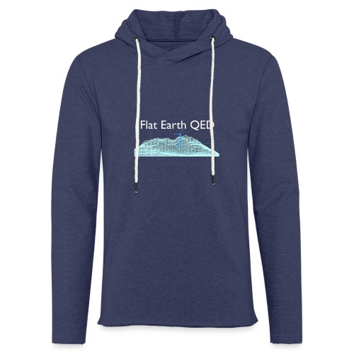 Flat Earth QED - Light Unisex Sweatshirt Hoodie