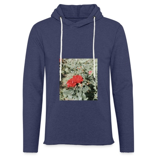 Red rose - Let sweatshirt med hætte, unisex
