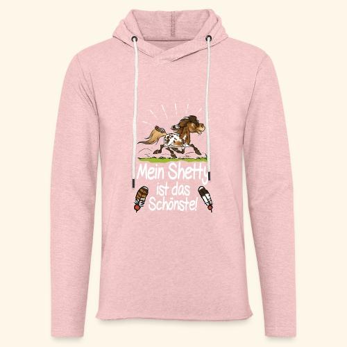 Mein Shetty das Schönste (Text weiss) - Sweat-shirt à capuche léger unisexe