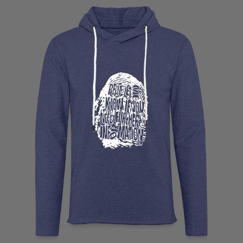 Fingerprint DNA (white) - Light Unisex Sweatshirt Hoodie