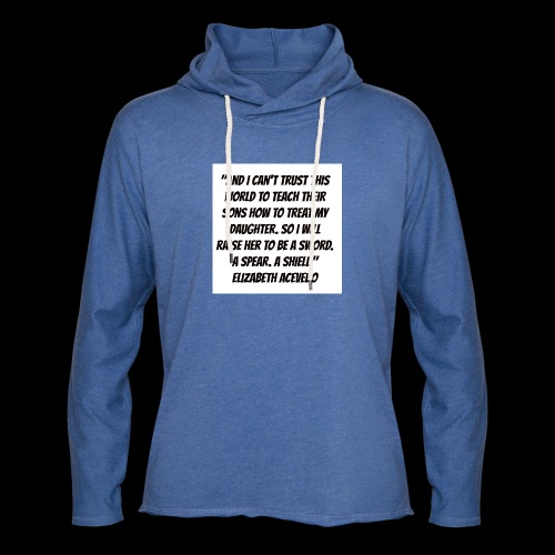 Quote by Elizabeth Acevedo - Light Unisex Sweatshirt Hoodie