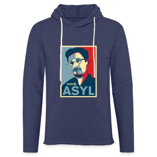 Asyl für Edward Snowden - Leichtes Kapuzensweatshirt Unisex