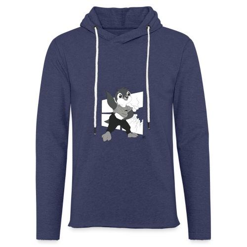 Le pingouin de Nice - Sweat-shirt à capuche léger unisexe
