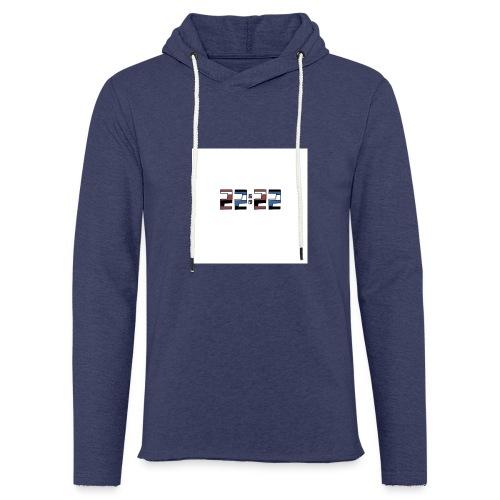22:22 buttons - Lichte hoodie unisex