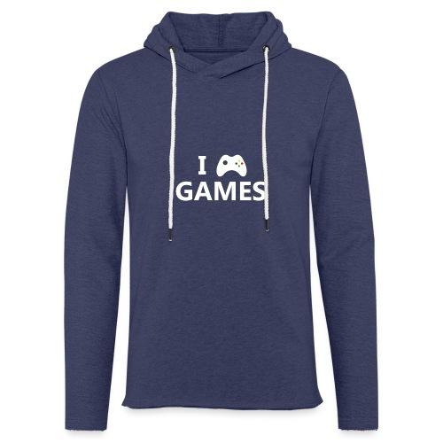 I Love Games 2 - Sudadera ligera unisex con capucha