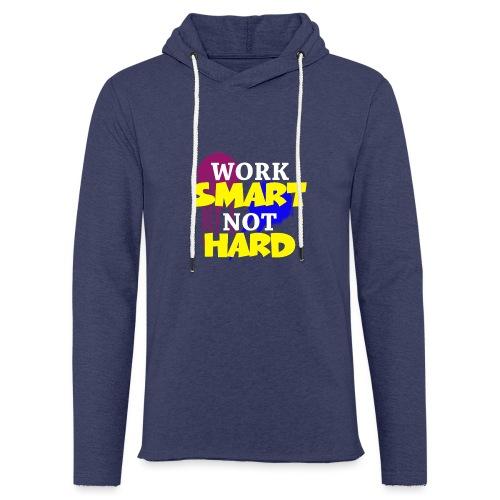 travailler intelligemment pas difficile - Sweat-shirt à capuche léger unisexe