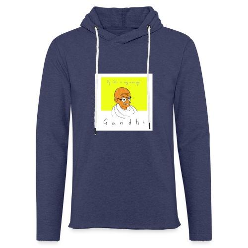 Gandhi - Leichtes Kapuzensweatshirt Unisex