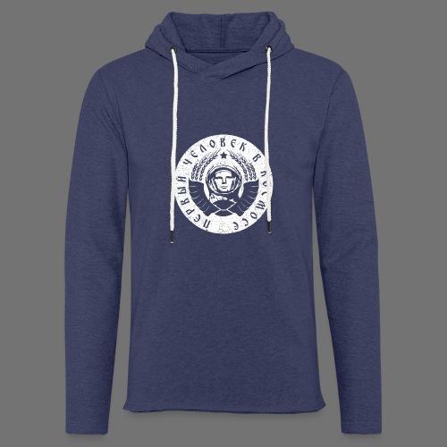 Biały kosmonauta 1c (oldstyle) - Lekka bluza z kapturem