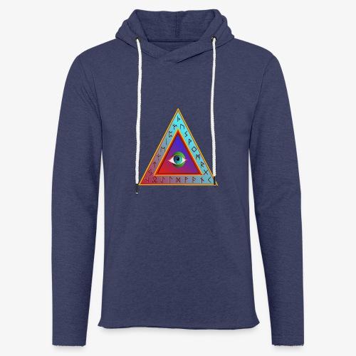 Dreieck - Leichtes Kapuzensweatshirt Unisex