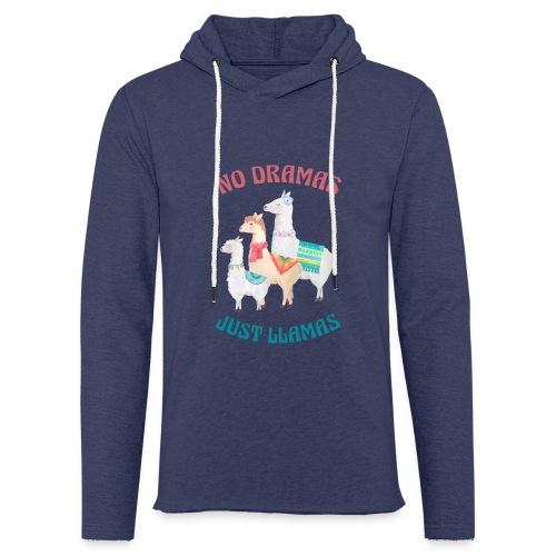 No Dramas Just Llamas - Light Unisex Sweatshirt Hoodie