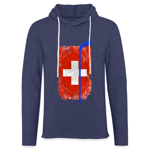 Schweizer Flagge Hockey - Leichtes Kapuzensweatshirt Unisex
