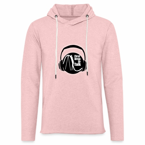 First Drop to Talk Logo - Leichtes Kapuzensweatshirt Unisex